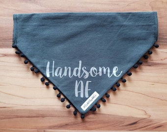 Handsome AF pet dog bandana size XL