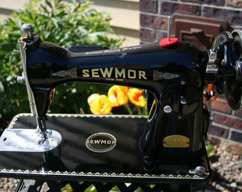 Sewmor Sewing Machine Model 754 Vintage Antique