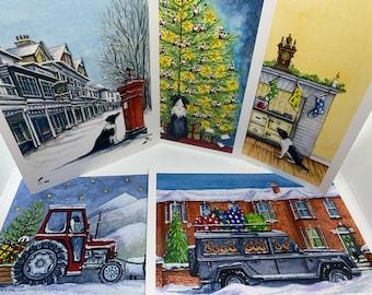 Set of 5 Bowline Christmas Cards
