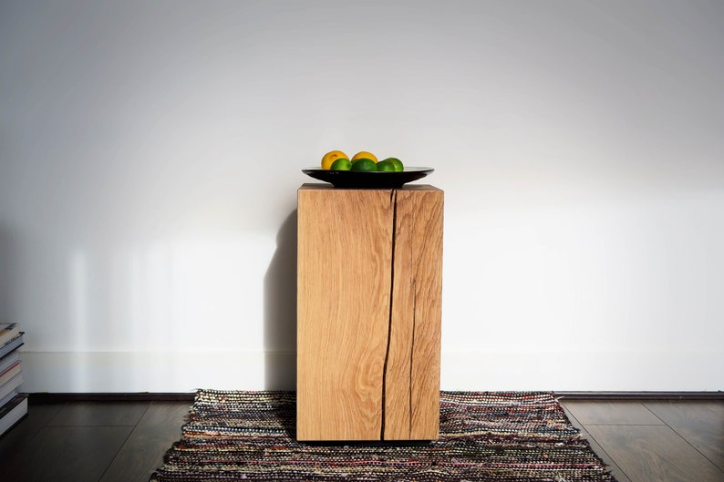 BLOCK Side Table by BANTHORPE  CO.  Oak Bedside Table / image 0