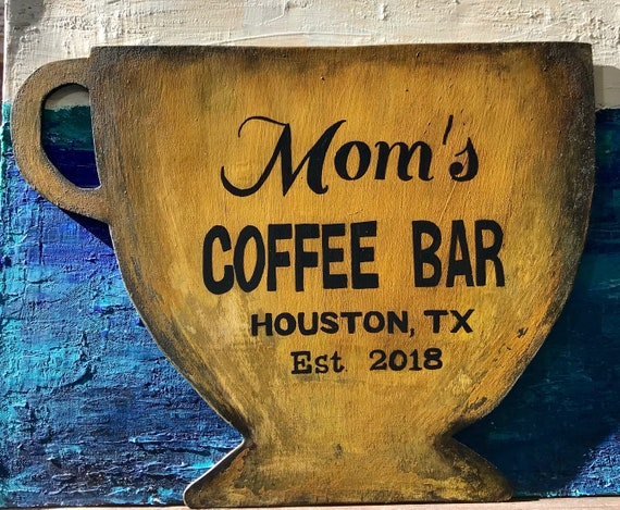Coffee Bar Sign Personalized and Customized