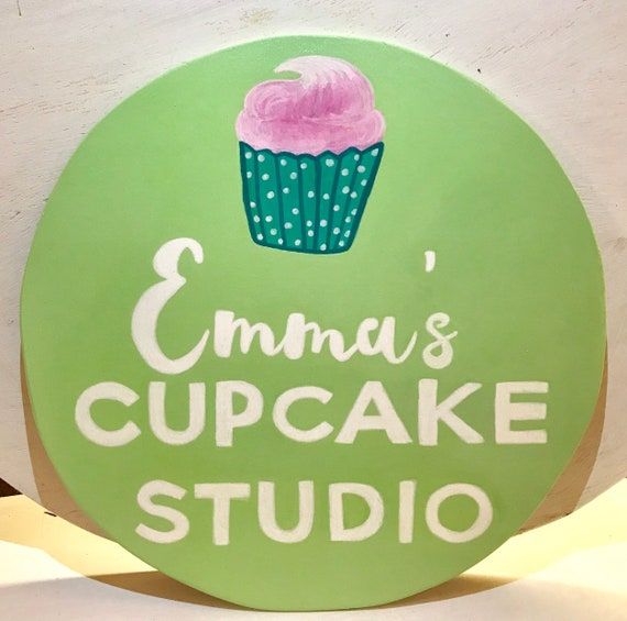Custom Cupcake Studio Sign