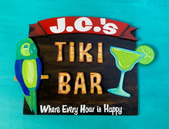 Personalized, Customizable Tiki Bar Sign