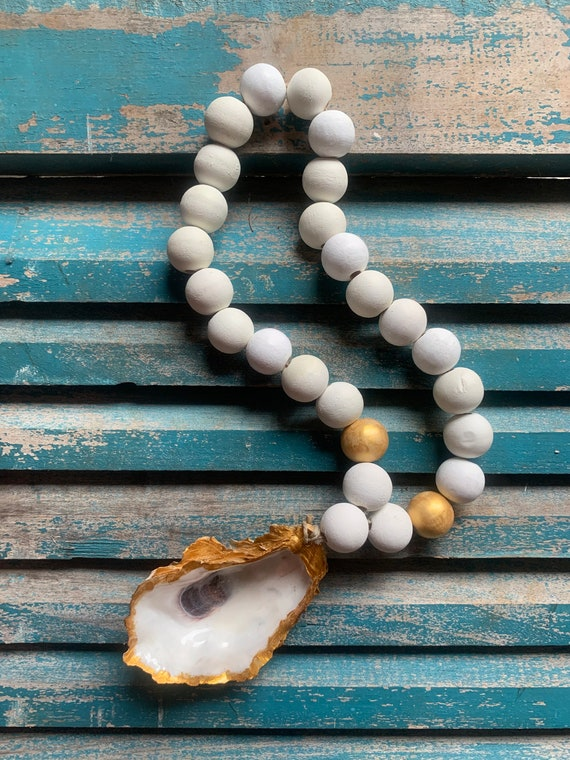 Coastal Oyster Shell Blessing Beads