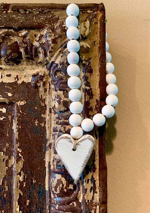 Rustic Heart Blessing Beads
