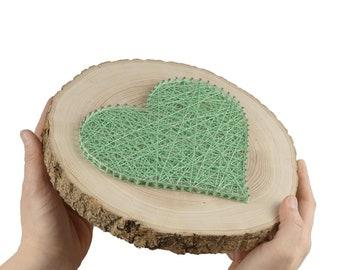 Gift Wedding | Thread Art Heart | StringArt Heart | Love Wall Decor | Residential decoration