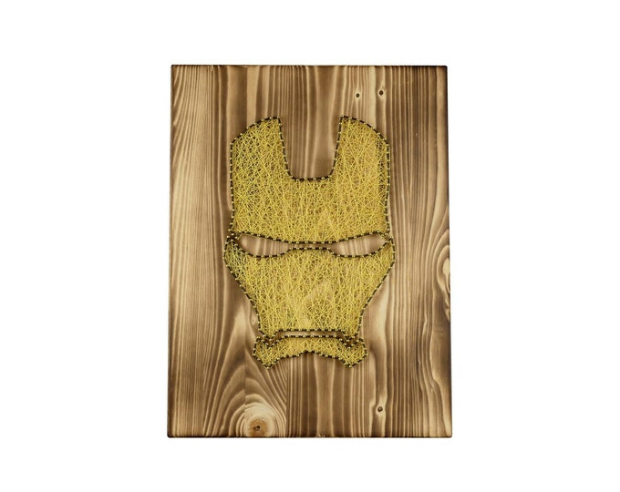 "Thread Art ""Iron Man Mask"" 