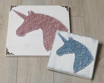 Thread Art Unicorn | StringArt Unicorn | Wall Decoration | Living decorations | Fairy Tail
