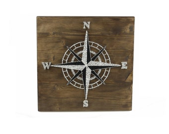 Thread Art Compass Rose | StringArt Compass Rose | Wall Decoration | Living decorations | Maritim
