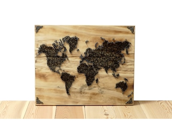 Thread Art World Map | StringArt Worldmap | Wall Decoration | Residential decoration