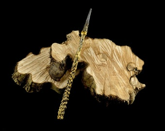 Magic wand brown gold | Magic Wall | Costume Accessories | Harry Potter Inspired