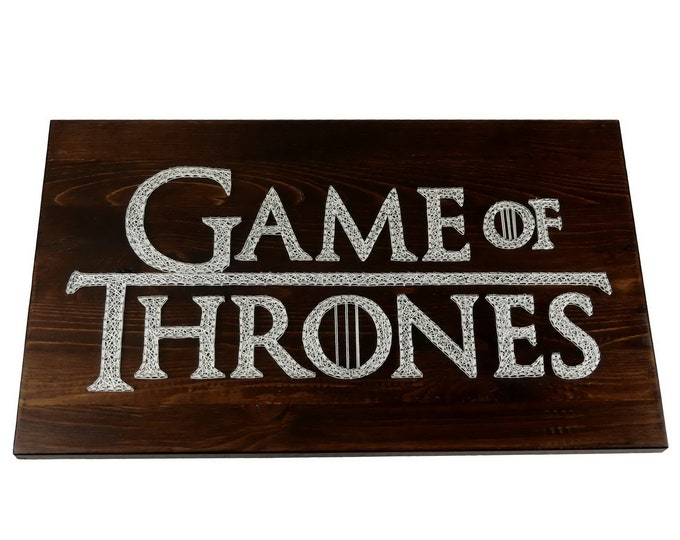 "Thread Art Lettering ""Game of Thrones"" 