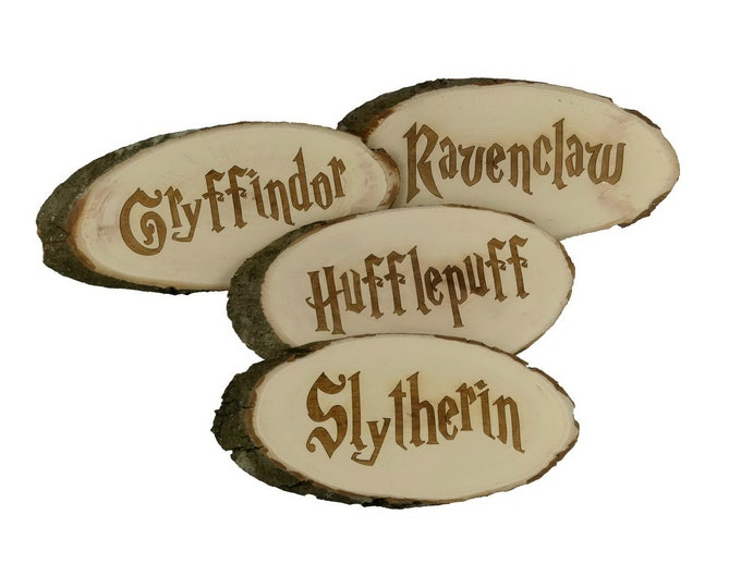 Barricade Door Sign with Engraving | Gryffindor | Hufflepuff | Ravenclaw | Slytherin | Harry Potter