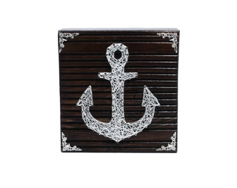Thread Art Anchor | StringArt Anchor | Wall Decoration | Living decorations | Maritim