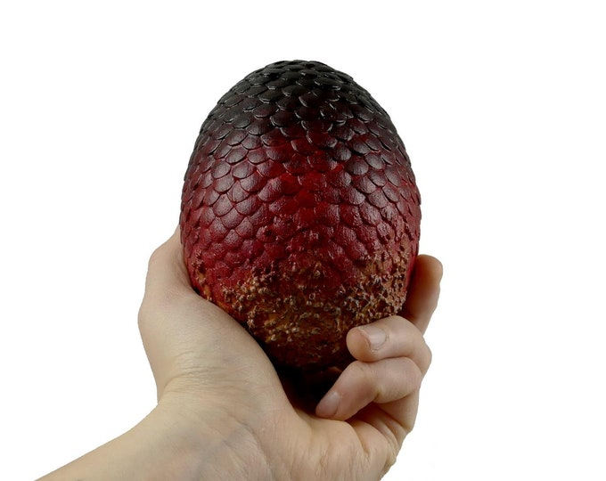 Dragon Egg Red Black 105 mm high | Dragon Eggs | Game of Thrones inspired