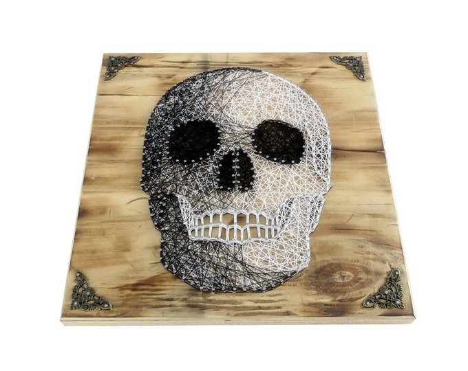 Thread Art Skull | Skull | StringArt Skull | Wall decoration | Residential decoration