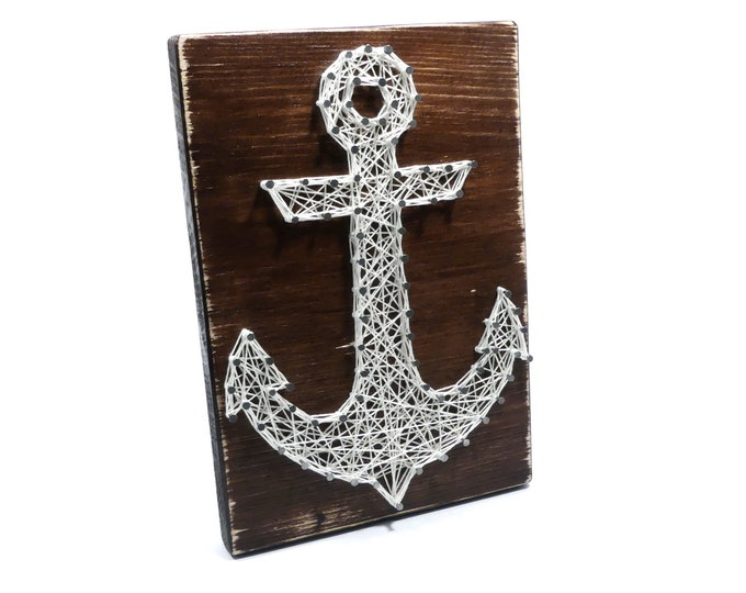 Thread Art Anchor | StringArt Anchor | Wall Decoration | Living decorations | Maritim