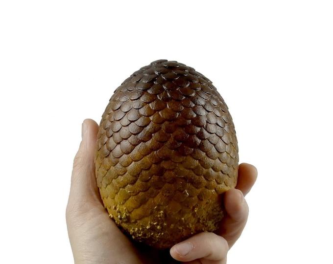 "Dragon Egg Brown ""Viserion"" 105 mm high | Dragon Eggs | Game of Thrones inspired"