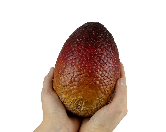 """Dragon Egg Red """"Drogon"""" 165 mm high 