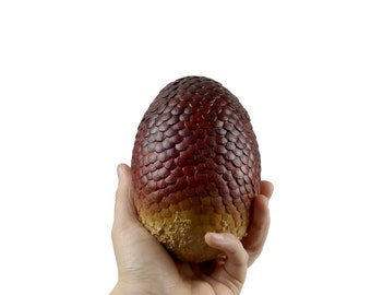 """Dragon Egg Red """"Drogon"""" 125 mm high 