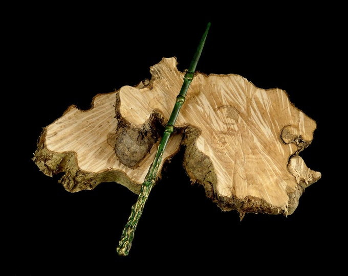 Magic wand green gold | Magic Wall | Costume Accessories | Harry Potter Inspired