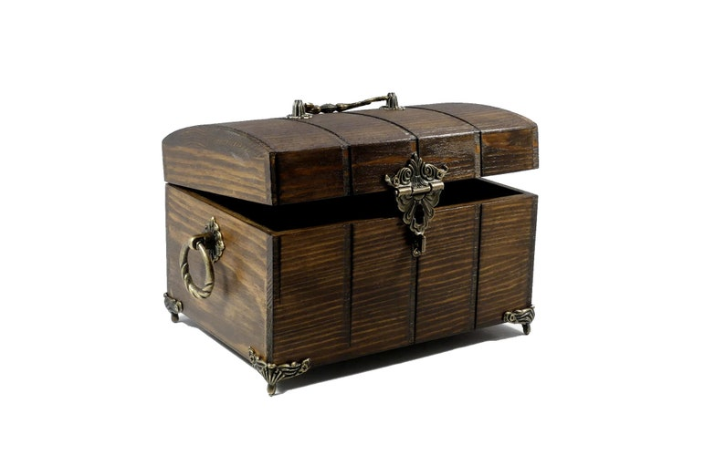 Mystical Chest with Feet  Casket  Box  Decoration image 0