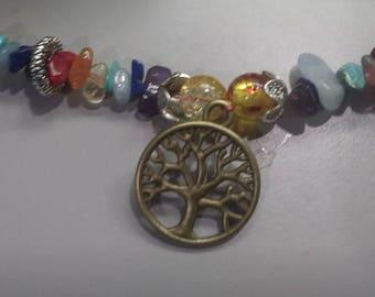 Healing Crystal Tree of Life Bracelet