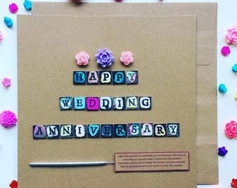 Happy Wedding Anniversary Sparkler Card