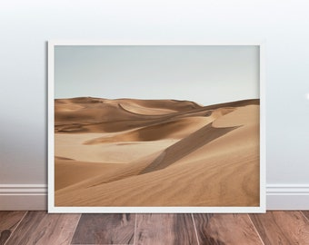 Dune Desert Print Dune Photo Print Desert Photography Dune Landscape Photography Sand Print Art Decor Poster Digital Download Minimalist