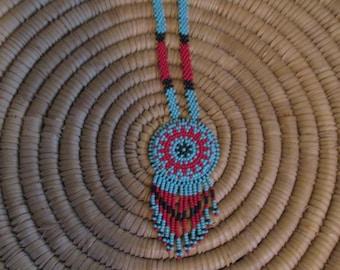Beaded Rosette Necklace