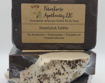Hazelnut Latte-Handmade Artisan Goats Milk Soap-Cold Process Soap