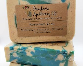 Morroccan Mint-Handmade Goats Milk Soap-Cold Process Soap