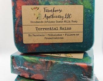 Torrential Rains-Handmade Artisan Goats Milk Soap-Cold Process Soap