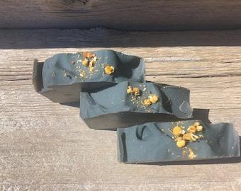 Black Chamomile-Handmade Artisan Goats Milk Soap-Cold Process