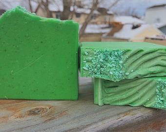 Green Clover & Aloe-Handmade Artisan Goats Milk Soap-Cold Process Soap