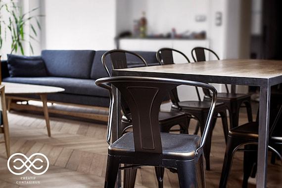 TABLE A MANGER - Style Loft-Industriel-Atelier SUR_MESURE