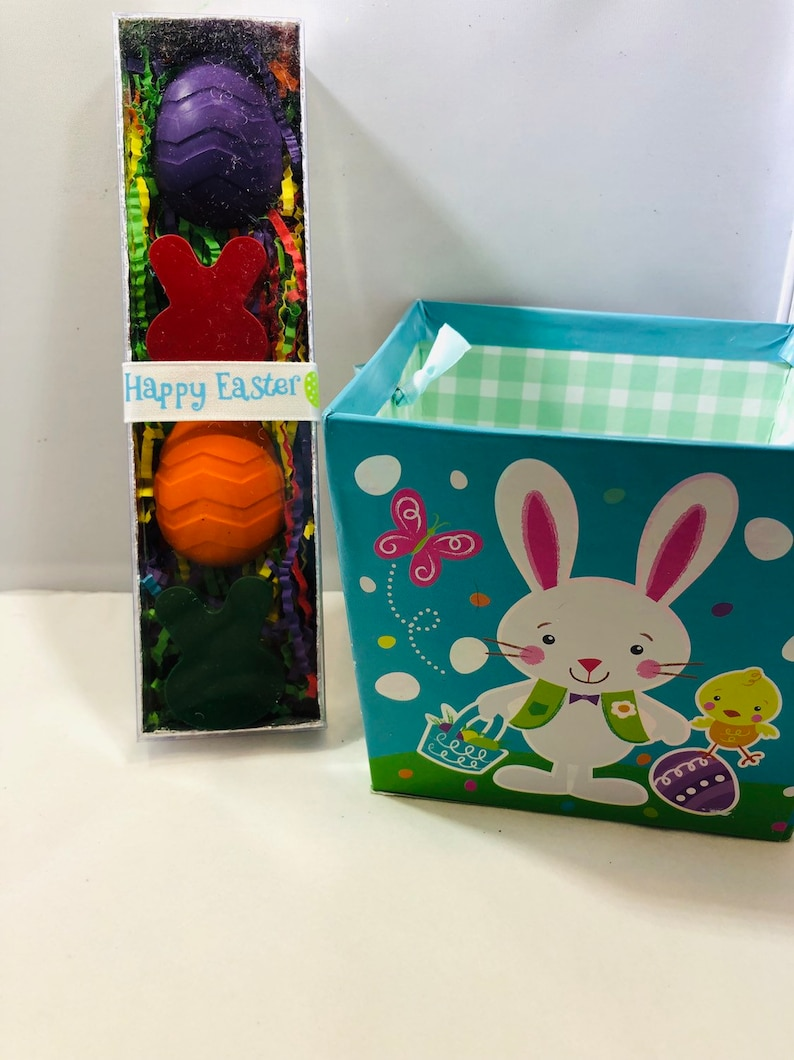 Kids Easter Gifts Set of Four Easter Crayons in a gift box Easter Basket Stuffers Easter gifts for kids
