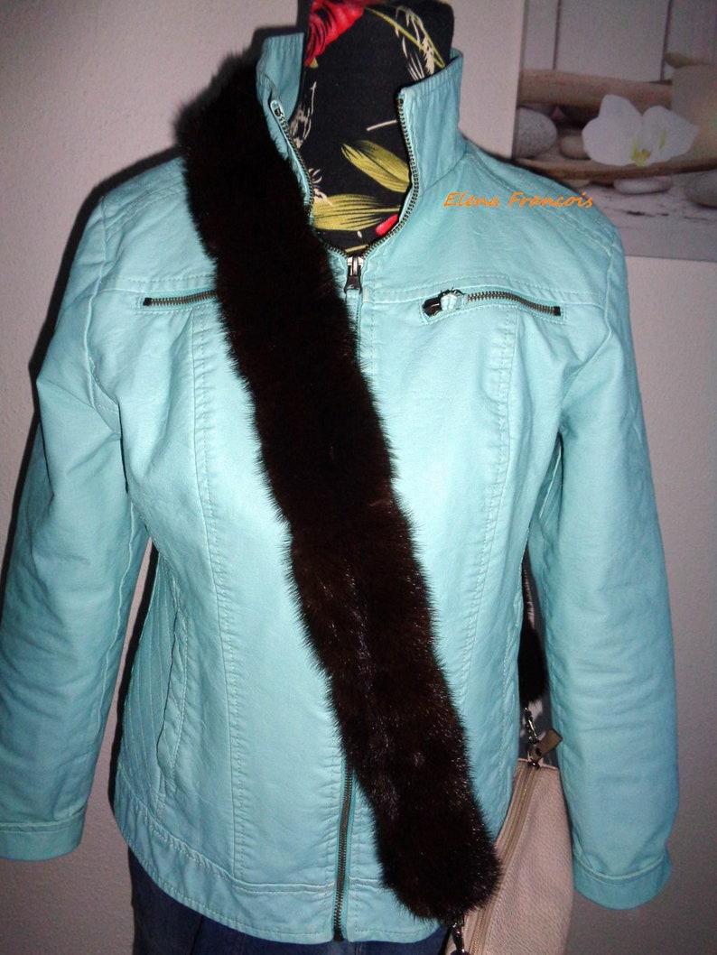 Pocket strap fur shoulder bag straps real fur mink new bag strap shoulder straps