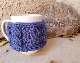 Mug cozy, cup cozy, cup sleeve, mug sleeve, mug warmer, mug cover, cup cover, crochet cup cozy, hot coffee cozy, crochet cup cover; mug wrap