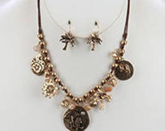 Charm Necklace and Earring Set