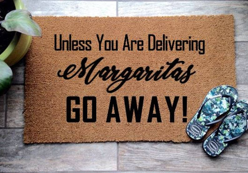 Funny Coir Quote Door Mat Adult Unless You Are Delivery