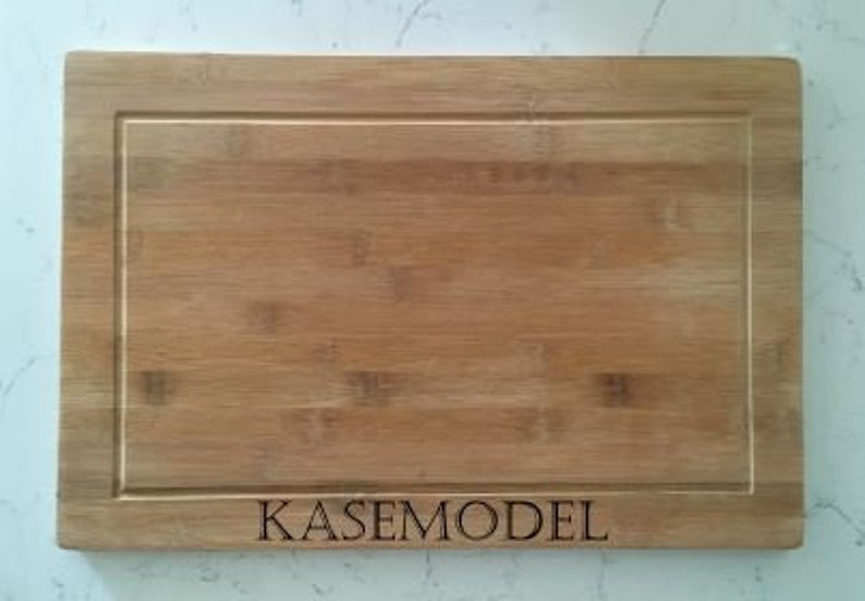 Laser Engraved Bamboo Cutting Board Personalized Engagement Wedding Christmas Gift