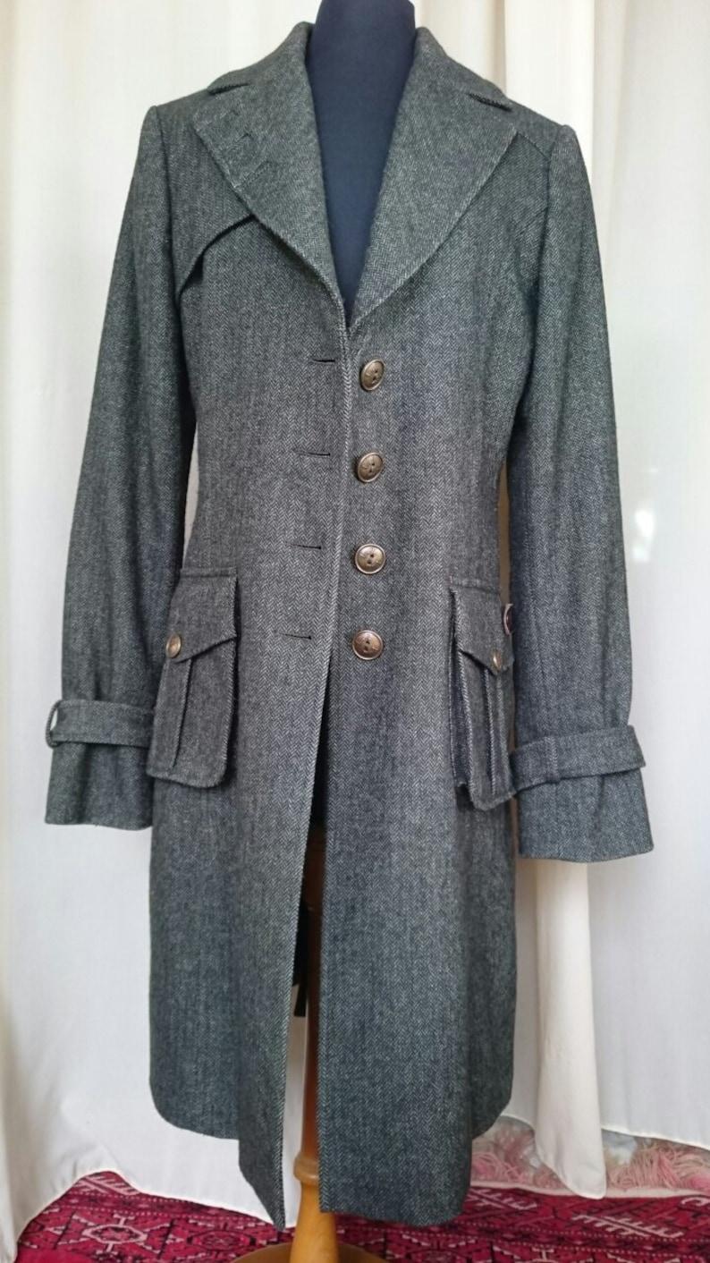 the best attitude 63e0d cfdea Woman LIU JO Gray Military Trench COAT Mantel Size 44 Italy.