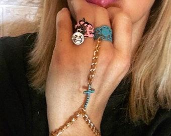 Cross ring-bracelet
