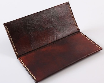 Dark Brown Vegetable-Tanned Leather Tobacco Pouch