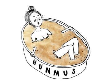 Hummus Gal Art Print