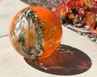 "6""/10"" Solar LED Gaze Ball Peacock/Garden/Pathway Light/Patio Table Light/Sun Cather/Art Glass"