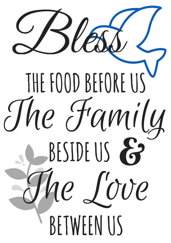 image relating to Bless the Food Before Us Printable known as Loved ones Prayer Printable - Bless the food stuff right before us (H2o)