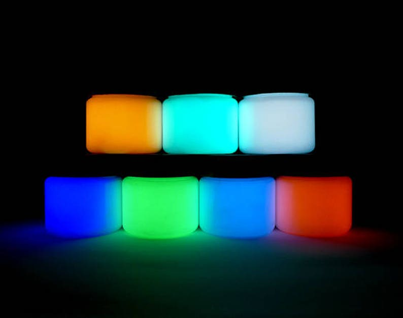 Glow In The Dark Paint 7 Colors Premium Artist S Acrylic Neutral Colors
