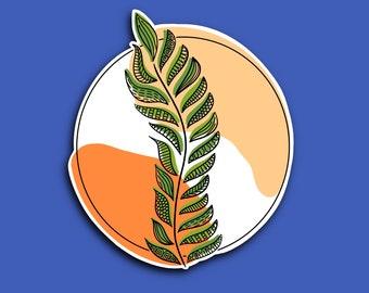 Transparent Boho Plant - Aesthetic - Artwork - Abstract - Zentangle Sticker (WATERPROOF)